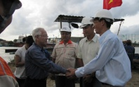 President of Ho Chi Minh City UDND.TP visit the project to jack D3000 Saigon River after completion